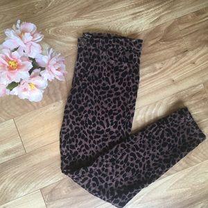 LOFT Leopard 8 Super Skinny Soft Jeans